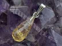 broušený přívěsek citrín